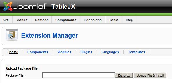 Table JX Documentation